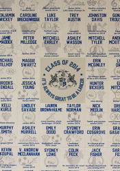 The class of 2015 tile wall will be installed next to the class of 2014 wall that's outside the SM East gym.