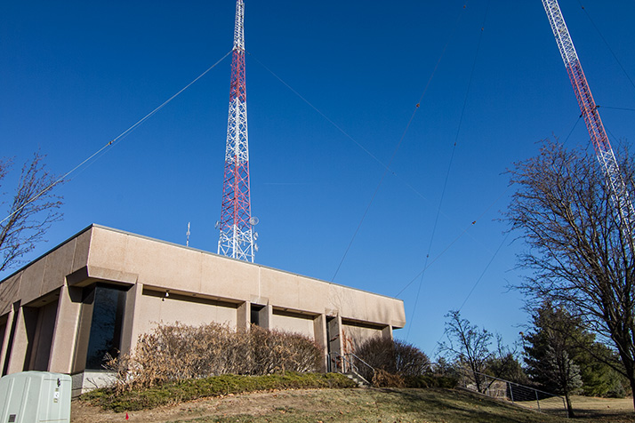 The central Entercom tower, a fixture in Westwood for nearly 85 years, will come down next week, weather permitting.