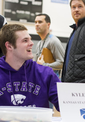 Kyle Ball at his signing day ceremony at SM East in 2015.