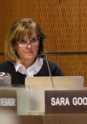 Shawnee Mission School Board Chair Sara Goodburn.