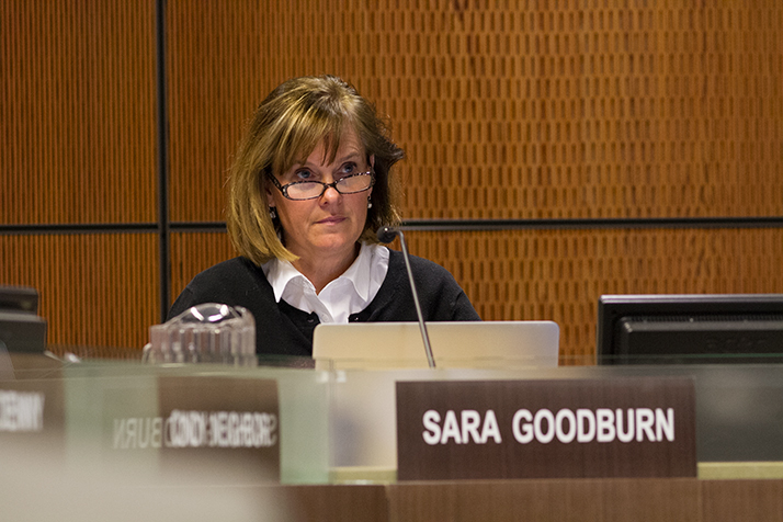 Shawnee Mission School Board Chair Sara Goodburn.