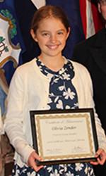 Prairie's Olivia Zender was the featured essayist. Photo via SMSD.