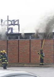 Fire gutted the nearly 60-year-old Mission Bowl building on Martway in April 2015.