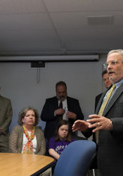 Dr. Kenny Southwick acknowledged Thursday that he had assured parents the gym would remain standing, but said the district is now considering an option that would raze it along with the rest of the school.