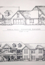 Elevation drawings from the conceptual plan for the new Mission Chateau senior living project presented to the Prairie Village City Council earlier this spring.