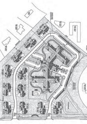 A rendering of the new Mission Chateau site plan.