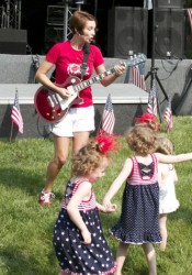 Funky Mama will be back to get the kids movin' at VillageFest Tuesday.