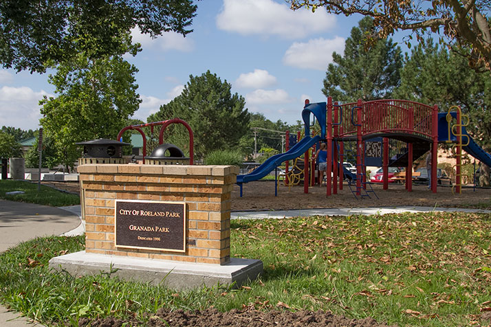 Granada Park across from city hall in Roeland Park.