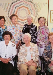 Members of the Merriam Homemakers Club at the group's final luncheon in May.