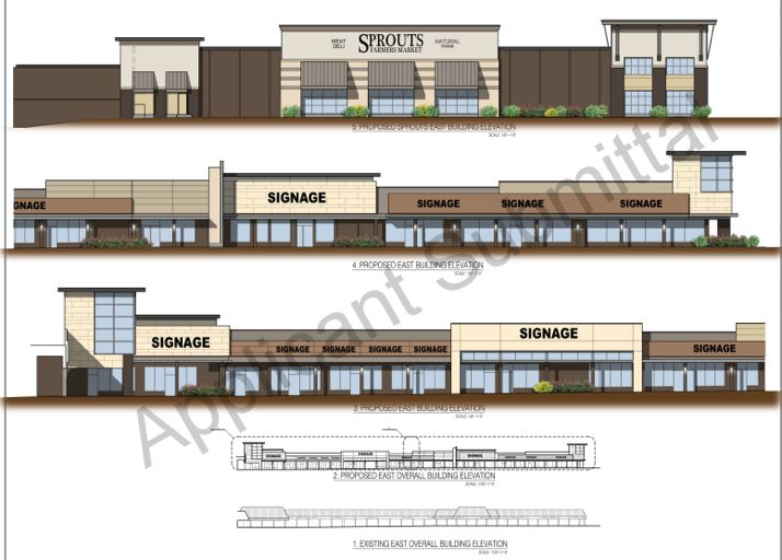 A rendering of the Sprouts building submitted to the city of Overland Park last year.