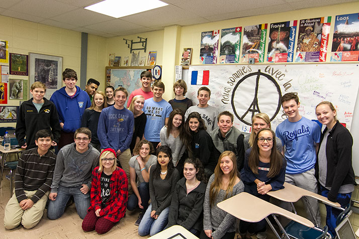 SM East students get views from French pen pals following