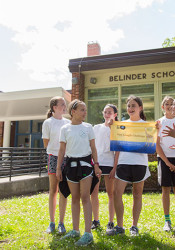 A group of Belinder sixth graders turned their experience reading a book together into a fundraising drive for the people of South Sudan.