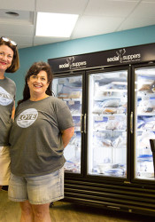 Jill Machovsky (left) and Jennifer Blankenship opened their Social Suppers store at Corinth Square in May 2006.