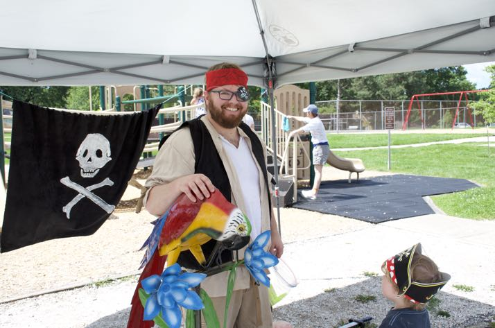 Pirates big and small populated R Park on Saturday.