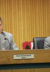 Mission Mayor Steve Schowengerdt and councilmember Tom G