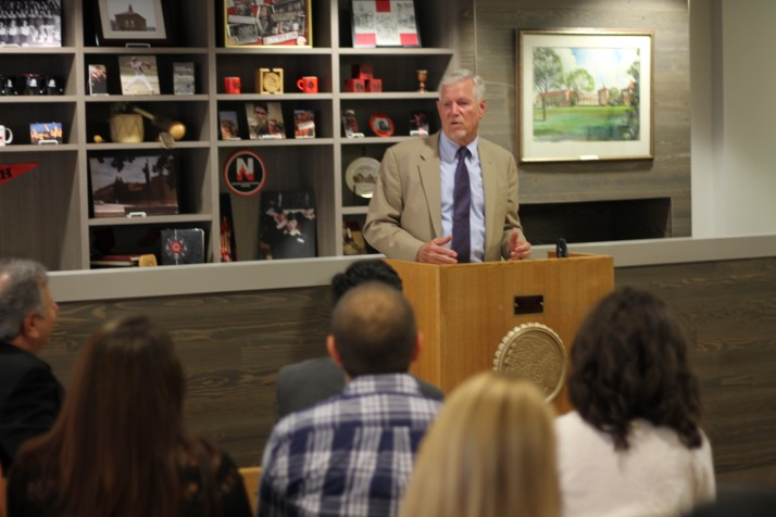 Gen. Myers was at Shawnee Mission North in August to talk about the Kansas State College Advising Corps.