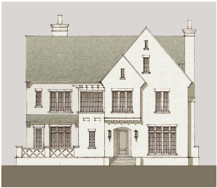 This Is A Conceptual Drawing Of One The Many Single Family Home Styles Envisioned