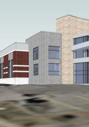 A rendering of the hospital proposed for the northwest corner of 75th Street and Marty in Overland Park.