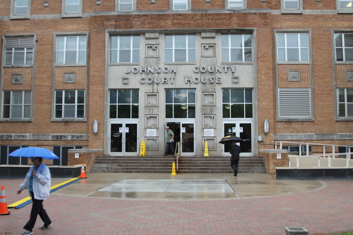 The existing Johnson County Courthouse opened in 1952.