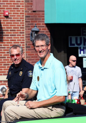 Overland Park Mayor Carl Gerlach in a parade in 2016. Photo by Andrew Poland.