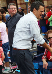 Rep. Kevin Yoder at the annual parade in downtown Overland Park last year.