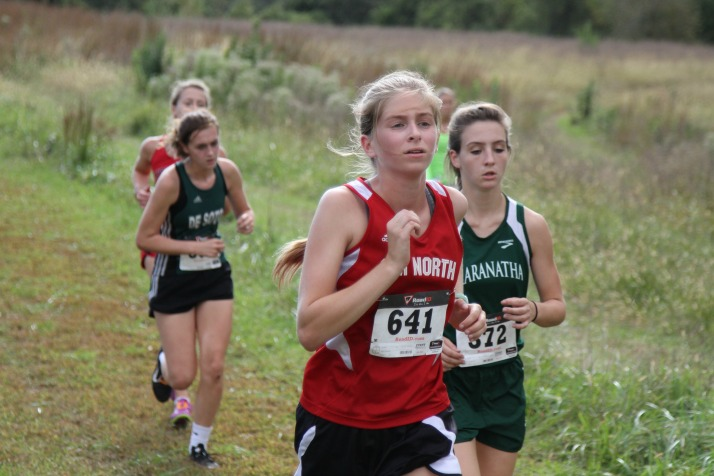 SM North freshman Lilianne Winston was the only girl running for the Indians and finished 53rd in 25:22.76.