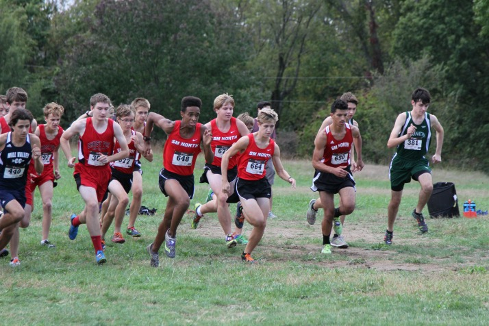 The Shawnee Mission North boys looked to get out to a quick start on Thursday at the Mill Valley Cat Classic.