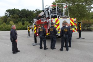 Firefighters from Consolidated Fire District No. 2 will help a group of Prairie Village kids get geared up for the new school year.