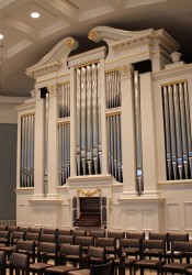 The new  organ will have 3,800 pipes when fully installed.