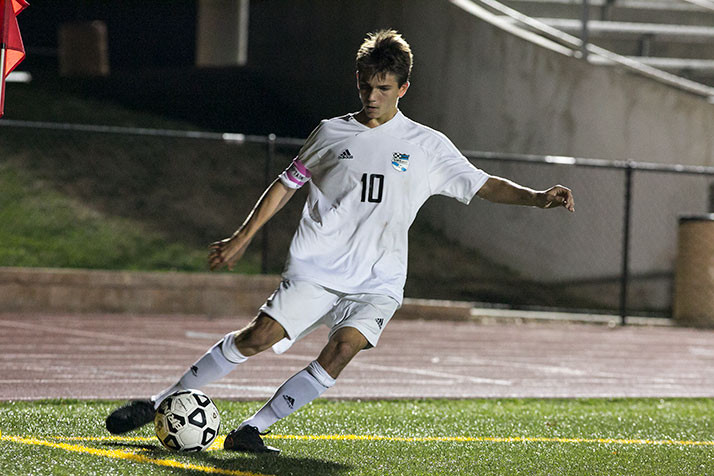 The fleet-footed Oliver Bihuniak finished the night with an assist and a goal of his own.