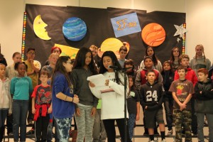 """The Roesland Elementary sixth graders composed their own rap lyrics for """"The Physics of Flight"""" musical."""