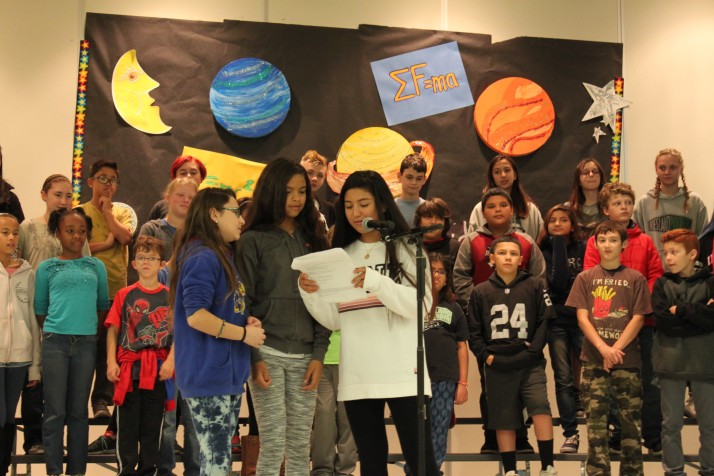 "The Roesland Elementary sixth graders composed their own rap lyrics for ""The Physics of Flight"" musical."