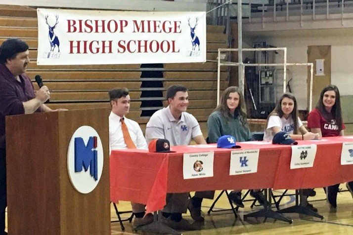 Five Bishop Miege Student Athletes Sign National Letter Of Intent