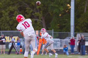 Bishop Miege junior quarterback Carter Putz is one of five Stags to be named to the All-Eastern Kansas League first team.
