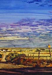 Gravel Road at Dusk by Mark Mohr.