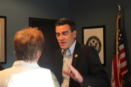 Kevin Yoder Talking To A Constituent During An Open House At His Overland  Park