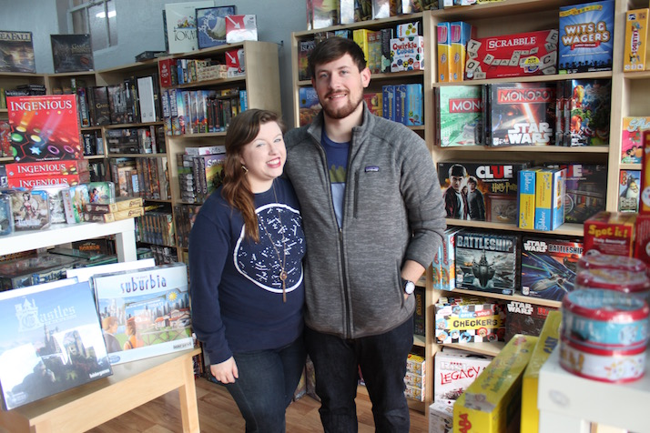 Mason Hans and his girlfriend Angelia Essex at Mission: Board Game.