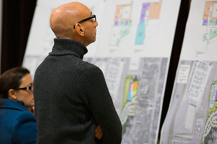 Merriam Parks and Recreation gave citizens a first look at three proposals for replacing the community and aquatic centers on Tuesday.