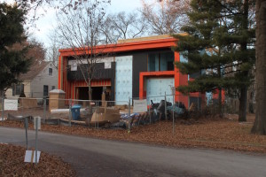 Allen Gregory is building this contemporary home at 69th and Tomahawk Road.