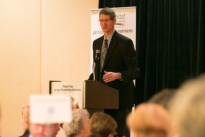 Overland Park Mayor Carl Gerlach easily fended off a challenge from Charlotte O'Hara to earn a fourth term in office.