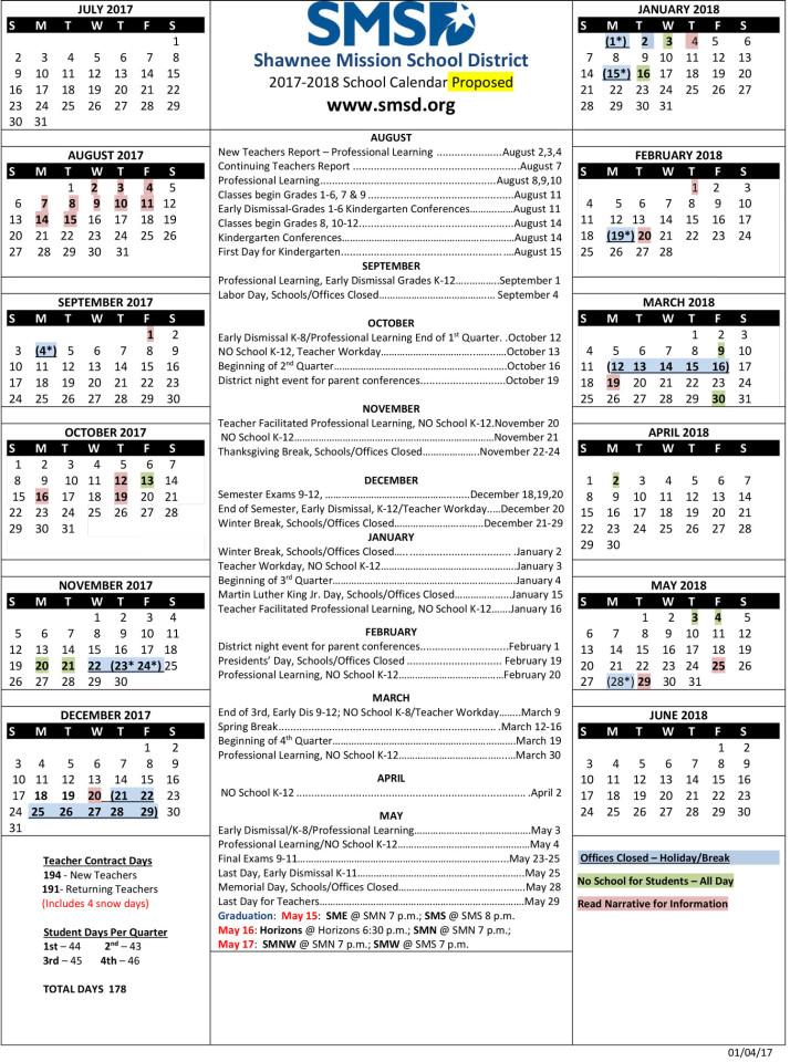2017-2018-Proposed-Calendar