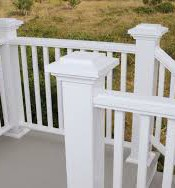 Azek composite railing.