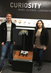 Cooper Gilbert (left) and Nagin Cox at the JPL in Pasadena, Calif.