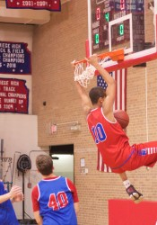 Bishop Miege sophomore Jeremiah Robinson-Earl is averaging 13.7 points and 9.2 rebounds per game this season.