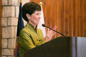 Mayor Peggy Dunn delivered Leawood's State of the City address Tuesday.