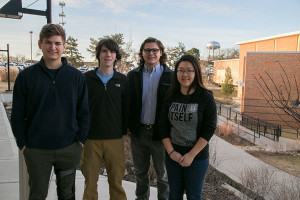 From left, Eli Kurlbaum, Eric Blom, Peter Haynes and Yashi Wang.
