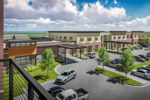 A rendering of the Dial project currently under construction in Lenexa.