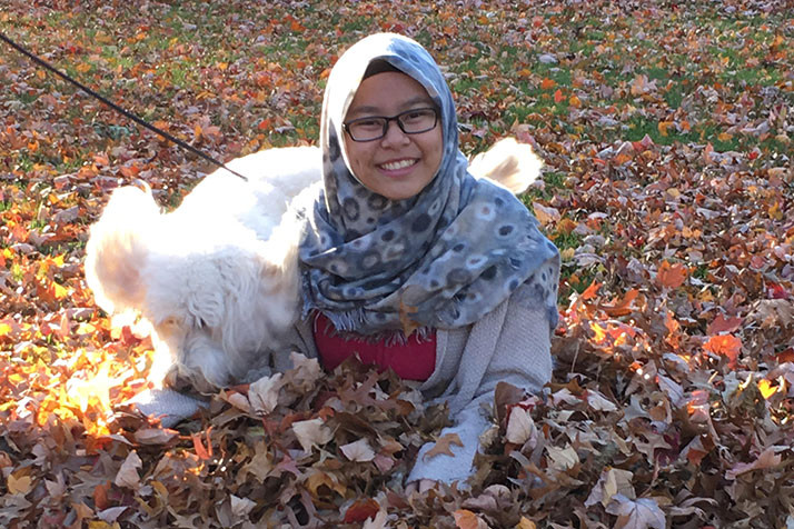 Nurul Zamzami enjoying fall in northeast Johnson County. Photo courtesy Leslie Mark.
