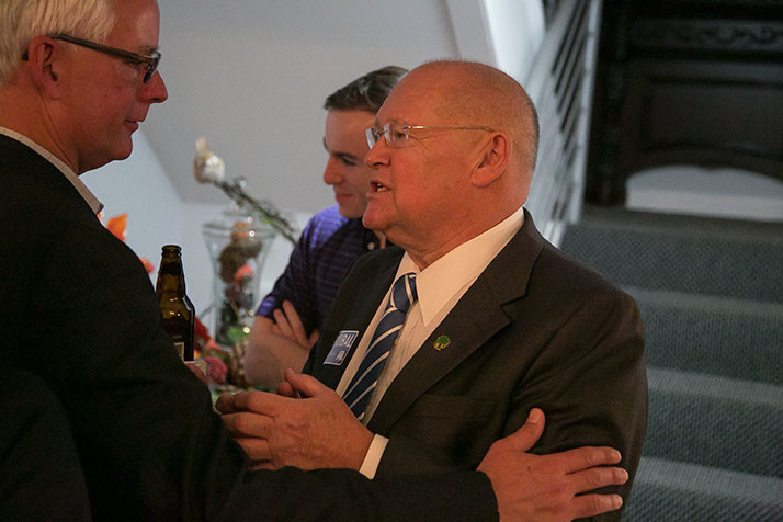 Sen. John Skubal on election night in November 2016.