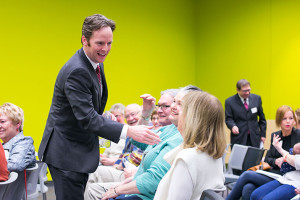 Former Roeland Park legislator Ed O'Malley was in Johnson County as part of a series of town halls across the state.